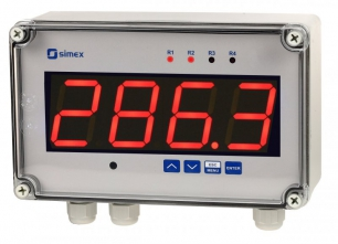 Simex SWS-457 | RS-485-Slave Anzeige | Mehrfarbiges Display | SWS-457-M-00-00000-10-3-001